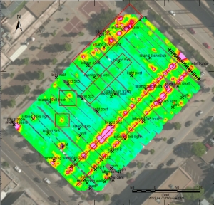 Magnetometry Results Locate Underground Tank, Olson Engineering
